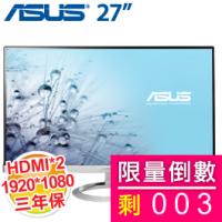 ASUS 27.0吋 MX279H/AH-IPS/HDMI*2+D-Sub/3W*2喇叭/無邊框 (美型)