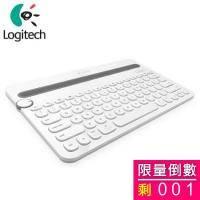 Logitech 羅技 K480 藍芽鍵盤/多功能/白