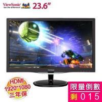 優派 23.6吋 VX2457-MHD Full HD 娛樂顯示器【1920x1080/HDMI、VGA、DP/2W 立體聲喇叭/保固三年 】 【福利品出清】