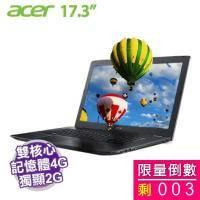 acer E5-774G-52PG【i5-7200U/4G D4/1TB/NV-940MX 2G/17.3吋 FHD/DVD/W10】【新品福利品】